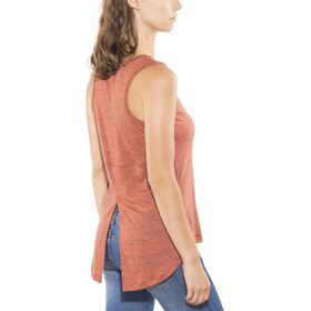 super.natural Motion Slash - Camisa sin mangas Mujer - naranja